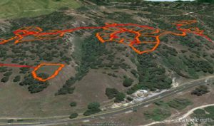 Fort Ord Trails on Google Earth